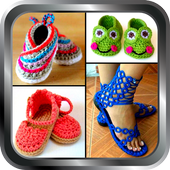 DIY Shoes Crochet Baby Booties Slipper ladies Home icon