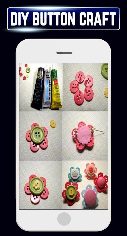 DIY Creative Buttons Home Craft Ideas Designs Tips for