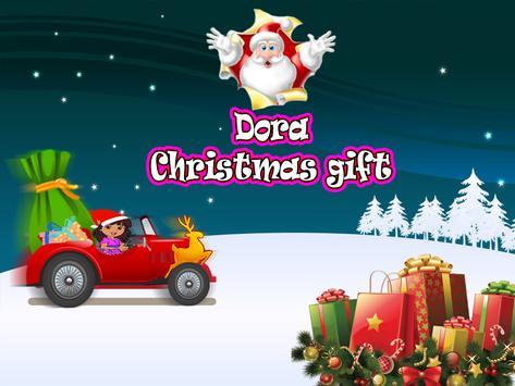 Dora christmas gift poster