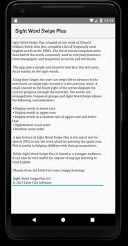 Sight Word Swipe Plus screenshot 2