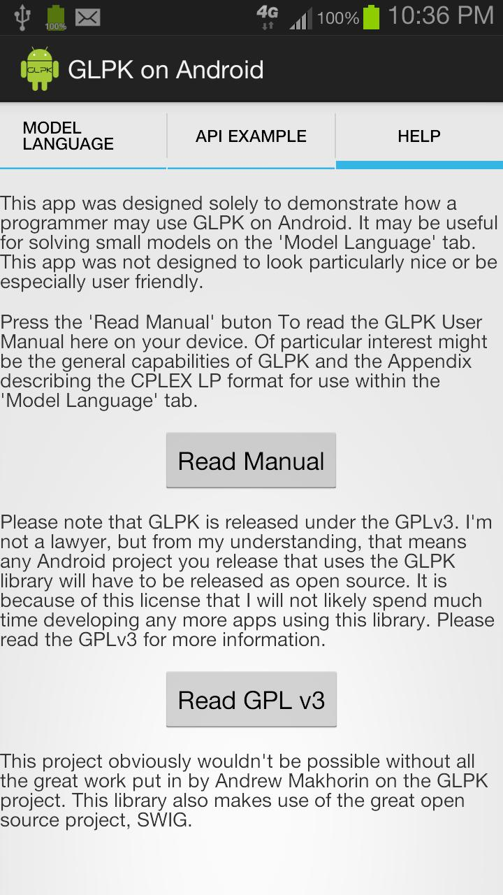 GLPK on Android for Android - APK Download