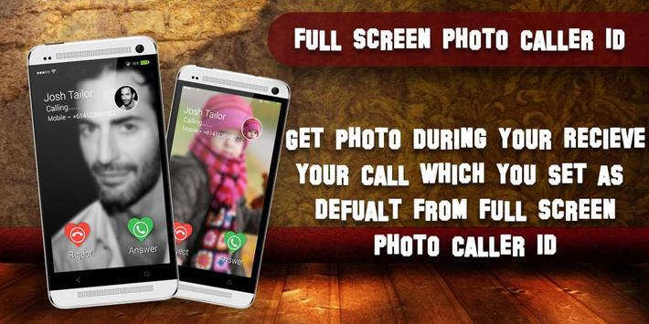 Full Screen Photo Caller ID poster