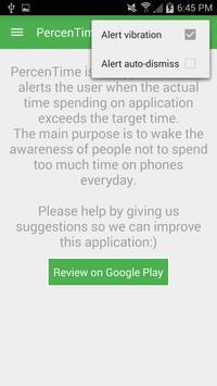 PercenTime (app usage monitor) apk screenshot