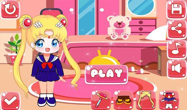 Little Sailor Girls Dress Up poster