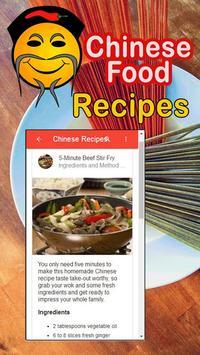 Chinese Cuisine Menu Recipes screenshot 1