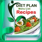 Healthy Diet Menu Plan Recipes icon