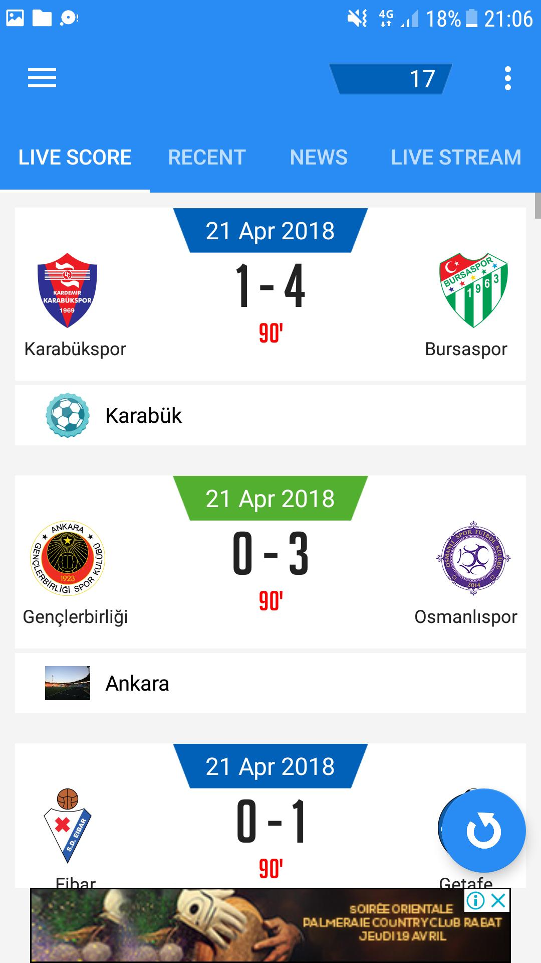 Livescore Football Results Live Soccer Matchs 24 For
