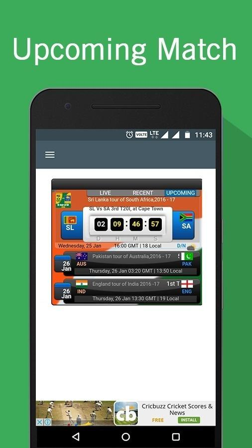 LIVE Cricket Score Ball by Ball Update for Android - APK