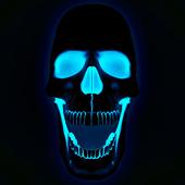 live skull hd wallpaper icon