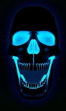 live skull hd wallpaper poster