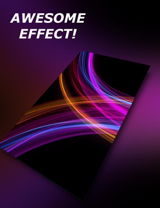 ... AMOLED live wallpaper - neon waves screenshot 1 ...