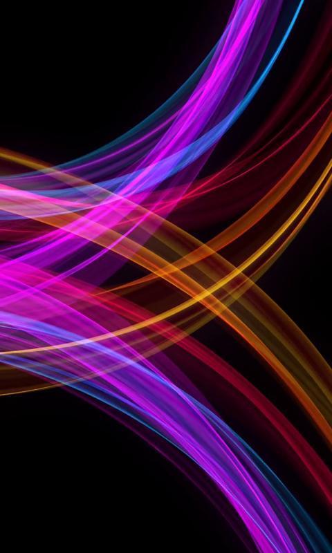... AMOLED live wallpaper - neon waves screenshot 2