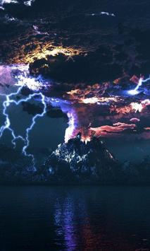 live wallpaper thunder poster