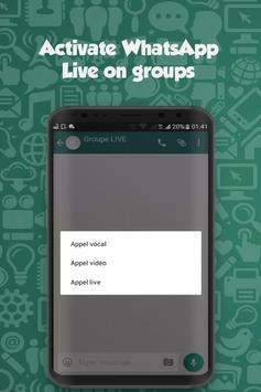 Live For WhatsApp groups poster