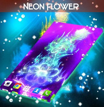 Neon Flower Live Wallpaper apk screenshot