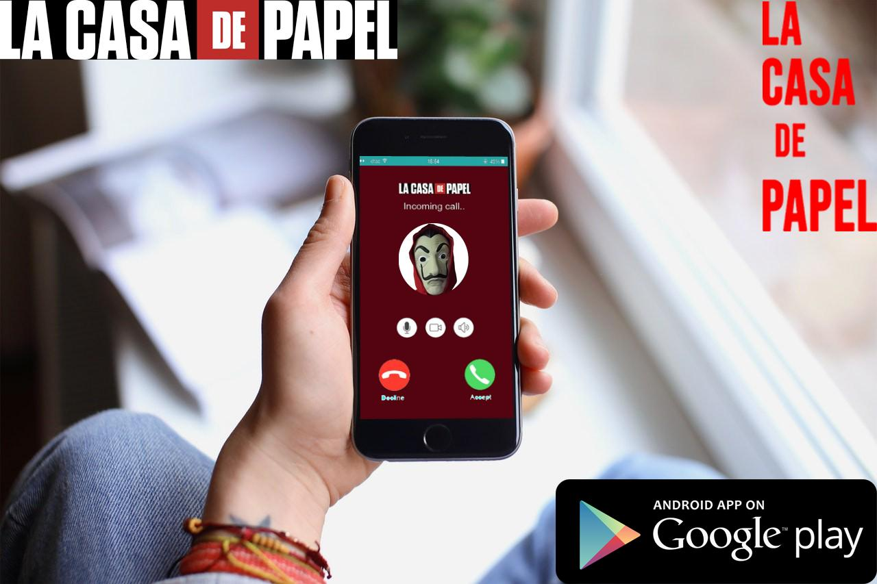 Live Video Call Casa De Papel Bella Ciao Simulator For Android Apk Download