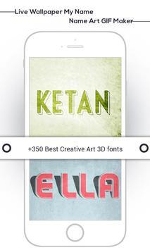 Live Wallpaper My Name : Name Art GIF Maker screenshot 11