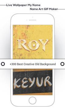 Live Wallpaper My Name : Name Art GIF Maker screenshot 1