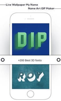 Live Wallpaper My Name : Name Art GIF Maker screenshot 2