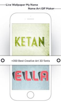 Live Wallpaper My Name : Name Art GIF Maker screenshot 4