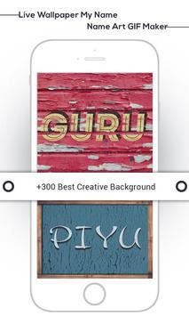 Live Wallpaper My Name : Name Art GIF Maker screenshot 7