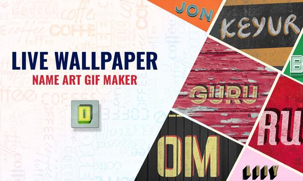 Live Wallpaper My Name : Name Art GIF Maker screenshot 8