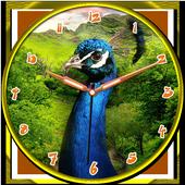 Peacock Clock icon