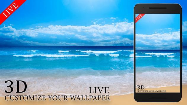Live Beach Free Wallpaper HD poster