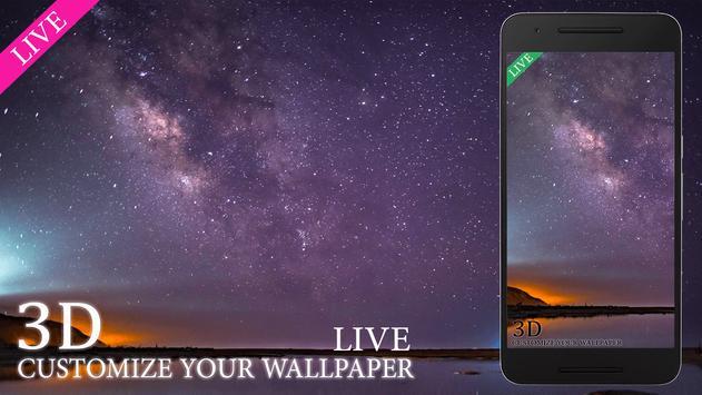 Night Sky Star Live Wallpaper HD poster