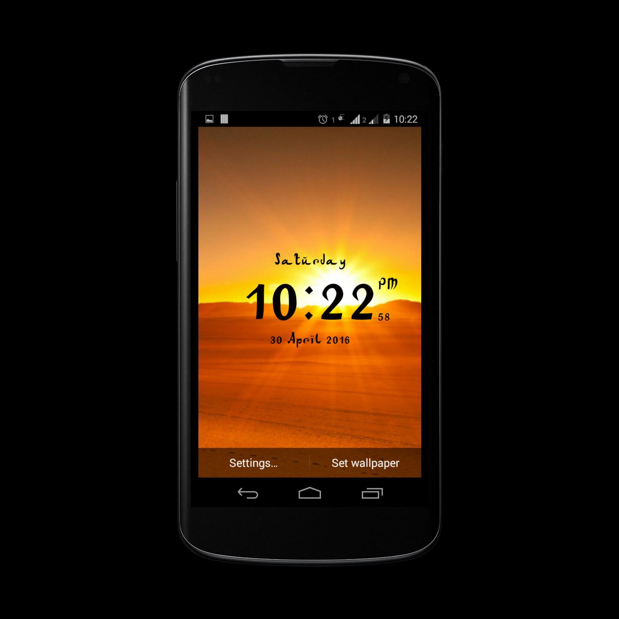 Arabic digital clock for Android - APK Download