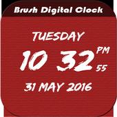 Brush Digital clock LWP free icon
