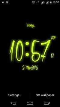 Brush Digital clock LWP free apk screenshot