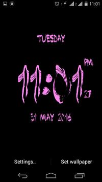 Brush Digital clock LWP free poster