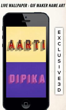 Live Wallpaper  GIF Maker Name Art screenshot 6