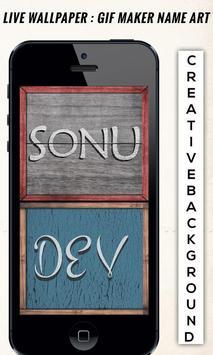 Live Wallpaper  GIF Maker Name Art poster