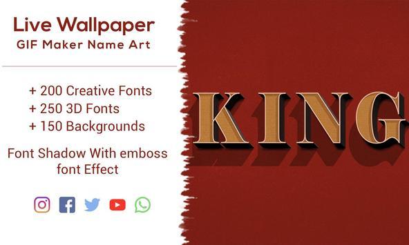 Live Wallpaper  GIF Maker Name Art screenshot 1