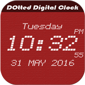 Dotted digital clock lwp free icon