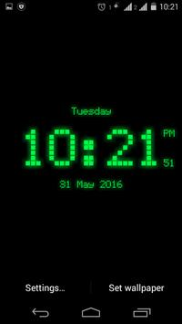 Dotted digital clock lwp free screenshot 1