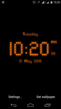 Dotted digital clock lwp free screenshot 2