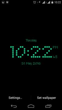 Dotted digital clock lwp free screenshot 3