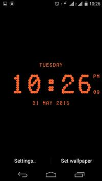 Dotted digital clock lwp free screenshot 7