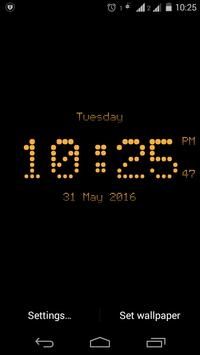 Dotted digital clock lwp free screenshot 8