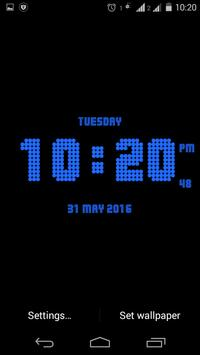 Dotted digital clock lwp free poster