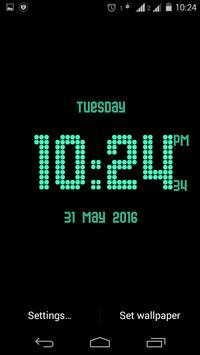 Dotted digital clock lwp free apk screenshot