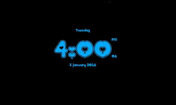 Love clock live wallpaper screenshot 9