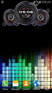 Music Clock Live Wallpaper apk screenshot