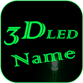 3D LED My Name Live Wallpaper icon