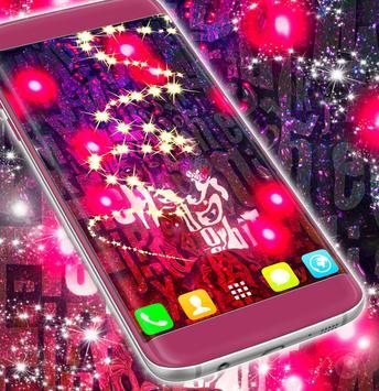 Pink Glitter Live Wallpaper apk screenshot