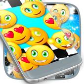 Emoji 2017 Race Live Wallpaper icon