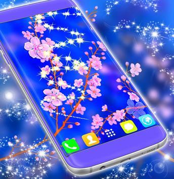 Cute Cherry Flower Live Wallpaper screenshot 1